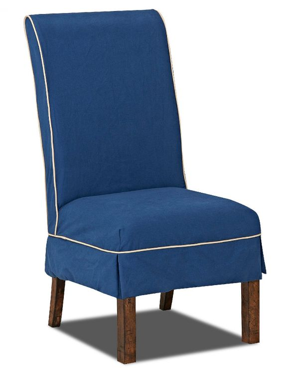 Gwen Parson Chair with Linen Slip Cover