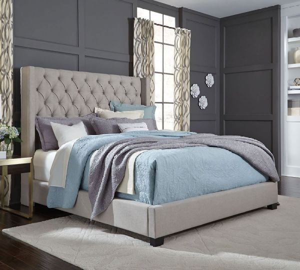 Westerly Light Grey King Upholstered Bed